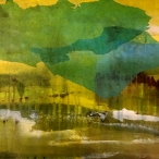 the yellow of the air, 76x61 cm, acrylic, oil and paper on canvas, FRAMED, SOLD