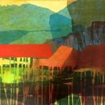 60,7x45,5 cm, acrylic, collage on canvas, 2019