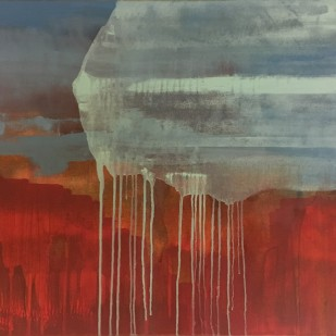 91,5x61 cm, graphite, acrylic, oil on canvas, 2019