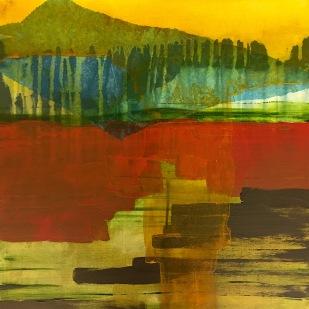 40,5x40,5 cm, acrylic, collage on canvas, 2019